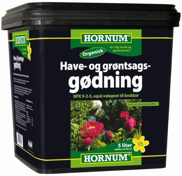 Hornum have og grøntsags gødning